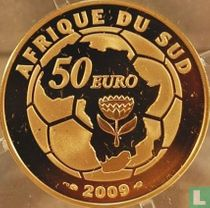 """France 50 euro 2009 (PROOF - gold) """"2010 Football World Cup in South Africa"""""""