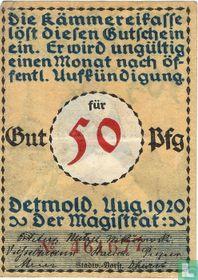 Detmold, 50 Pfennig 1920 (2d)