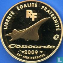 """France 50 euro 2009 (PROOF - gold) """"40th anniversary of the Concorde"""""""