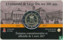 "Belgium 2 euro 2017 (coincard - FRA) ""200 years University of Liege"""