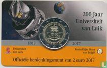 "Belgium 2 euro 2017 (coincard - NLD) ""200 years University of Liege"""