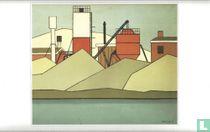 Betonfabriek aan de Haven van Enschede, 1971