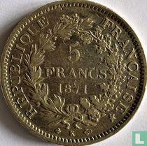 France 5 francs 1871 (Hercules - K)
