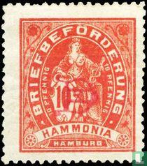 Letter delivery Hammonia - sitting (print monogram)