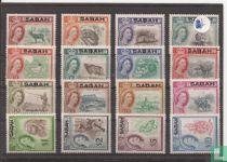 Opdruk SABAH op zegels Noord-Borneo