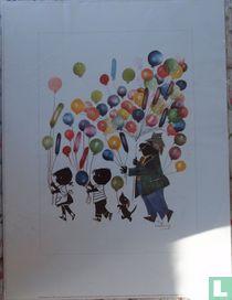 Jip en Janneke met ballonnen