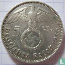 Duitse Rijk 5 reichsmark 1936 (met hakenkruis - J)