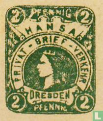 Vrouwenkop met kroon (type 6)