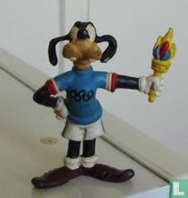 Goofy met Olympische vlam