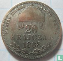 Hongarije 20 krajczar 1868 (GY.F)