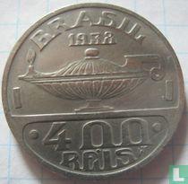 Brasilien 400 Réis 1938 (Oswaldo Cruz)