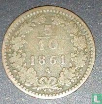Austria 5/10 kreuzer 1861 (A)
