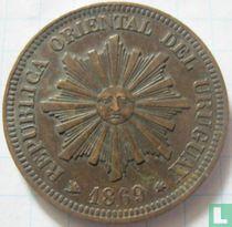 Uruguay 2 centésimos 1869 (H)