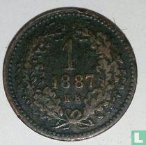 Hongarije 1 krajczar 1887