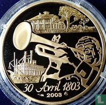 "Frankrijk 20 euro 2003 (PROOF) ""Bicentenary of the sale of Louisiana to the United States"""