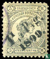 Frankofurtia, mit Aufdruck 1,5 Pfg. 1899