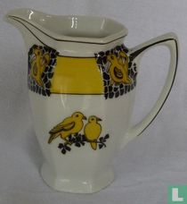 Melkkan - Art Deco - Gele vogels