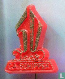 50 jaar C.A. Schipper [goud op rood]