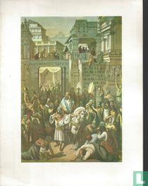 Mordechai door de koning geëerd.