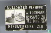 Buldozer verhuur W. Kooijman Nieuwerkerk ZLD