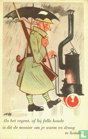 12 Als het regent, of bij felle koude is dit de manier om je warm en droog te houden.