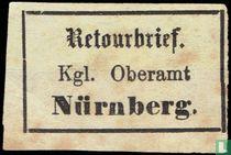 Retourbrief Kgl.Oberamnt Nurnberg