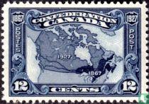 Landkaart van Canada 1867-1927