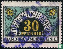 Theilschein-Marke Hamburg-Amerika Linie