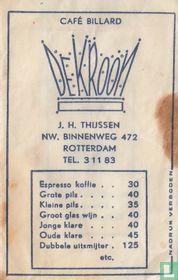 Café Billard De Kroon