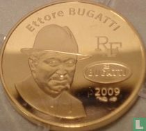 """France 50 euro 2009 (PROOF - gold) """"100th anniversary of the creation of the brand Bugatti"""""""