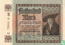 Reichsbank 5000 Mark 1922 (R80B)