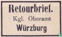 Retourbrief Würzburg