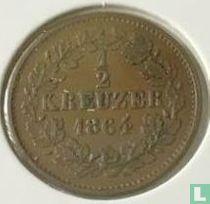 Baden ½ kreuzer 1864