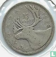 Canada 25 cents 1938
