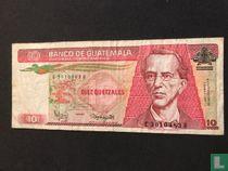 Guatemala 10 quetzales 1987