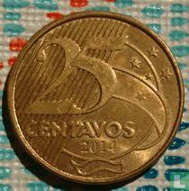 Brazilië 25 centavos 2014