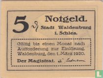 Waldenburg Stadt in Schlesia 5 pfennig 1920