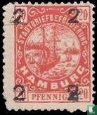 City Post Hamburg Hammonia Hamburg overprint (Copy)