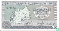 Rwanda 50 Francs 1974