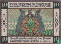 Borna, Amtshauptmannschaft 10 pfennig 1919