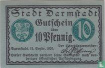 Darmstadt 10 pfennig 1920