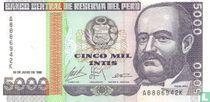 Peru 5000 Soles 1988