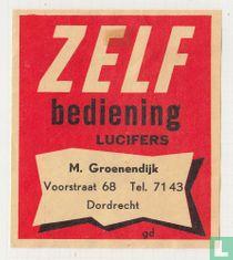 Zelf bediening M.Groenendijk Voorstraat 68 Tel. 71 43 Dordrecht