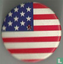 LED U.S.A. vlag button