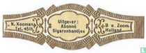 Uitgever : Abonné Sigarenbandjes - N. Kooman Tel. 4515 - B. o. Zoom Holland
