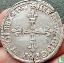France ¼ ecu 1588 (C)