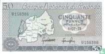 Rwanda 50 Francs 1971