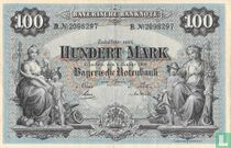Bavaria, Notenbank 100 Mark