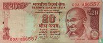 India 20 Rupees 2014 (E)