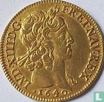 France 1 louis d'or 1640 (short curl)